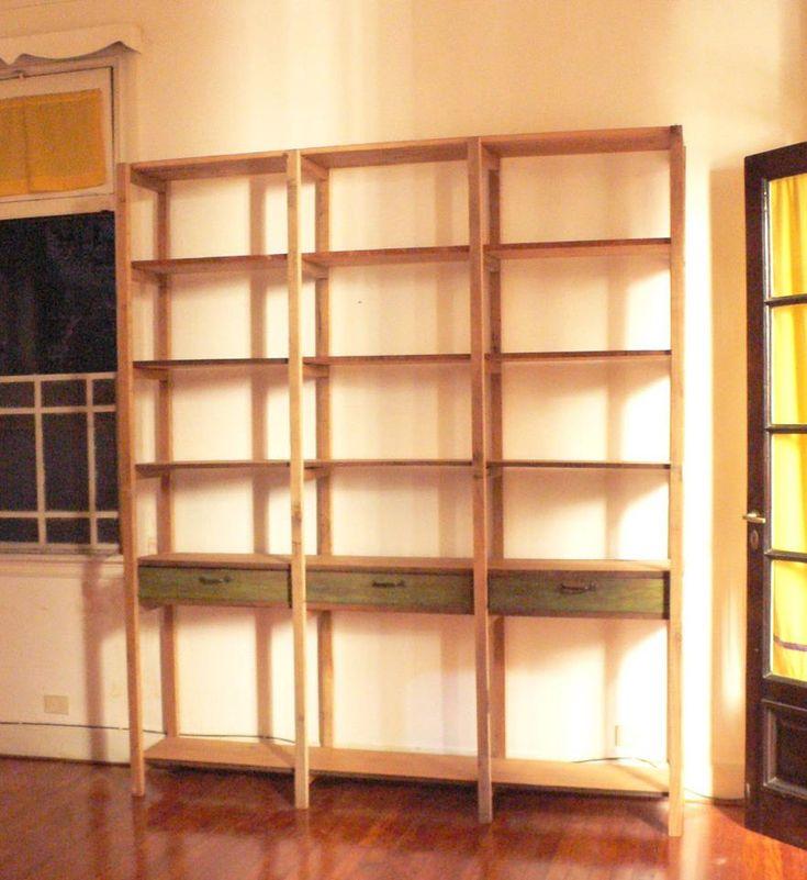 Muebles de madera Bibliotecas y Estanterías Hechas a Medida Madera Pino Brasil Reciclada - Pino Paraná