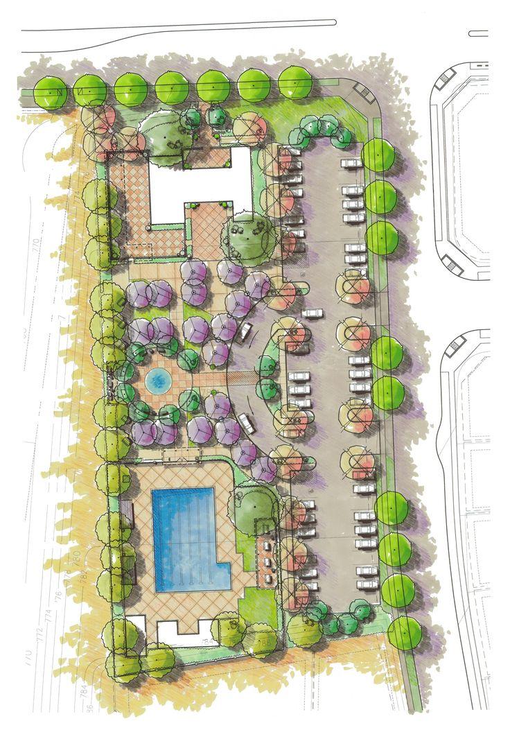 Concept for alamo creek aquatic center recreation for Landscape design center