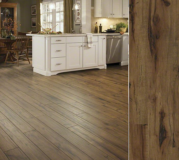 shaw laminate in a gorgeuos handhewn visual style timberline color lumberjack hckry