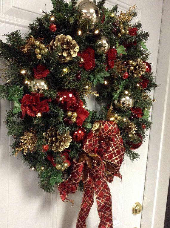 Best 25+ Lighted wreaths ideas on Pinterest   Diy christmas ...