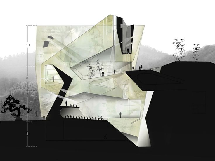Best Architectural Presentation Esquisse Sketches Images On
