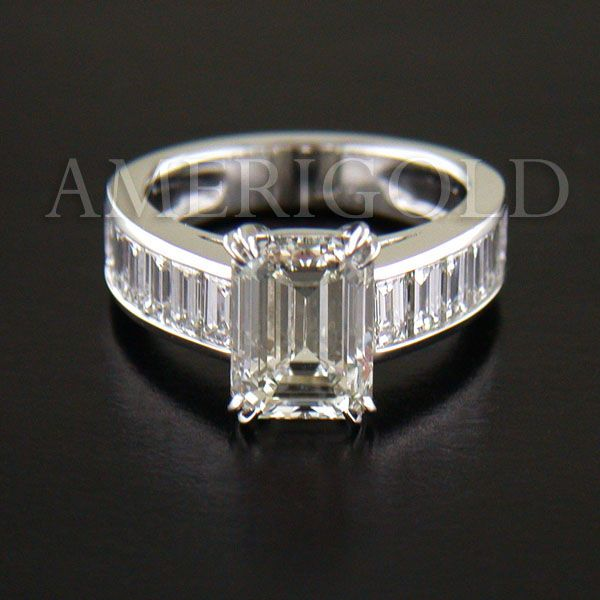 Emerald Cut Diamond w/Diamond Baguette eternity band. Not exactly Judaica, but could be...? one day...? Please...?