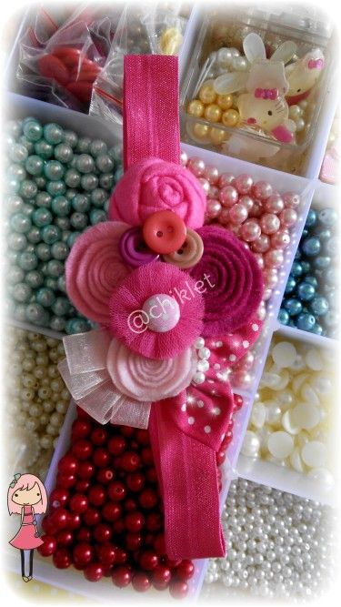 Pink  baby headband