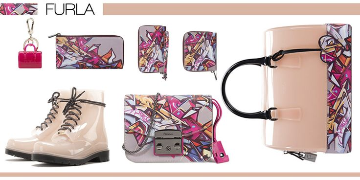 Colección con estampado en tonos rosados de Furla