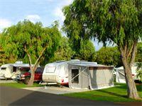 Powered concrete slab site for Caravans
