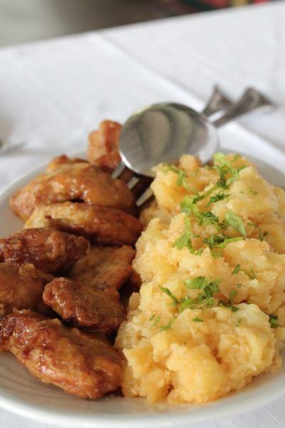 Pui cu miere și muștar și cartofi țărănești