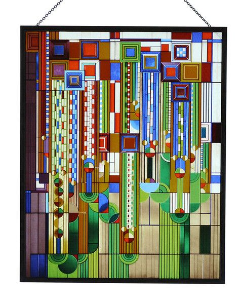 Faux Stained Glass Window Film Arts And Crafts Movement