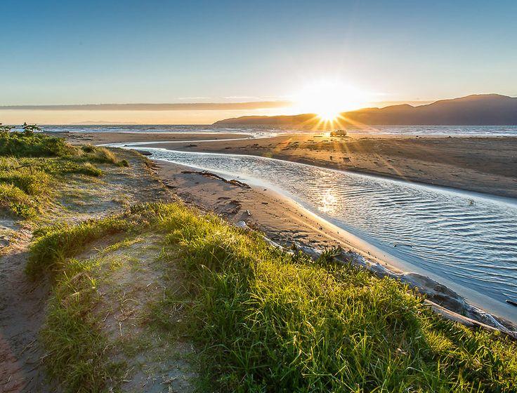 Kapiti Island at sunset