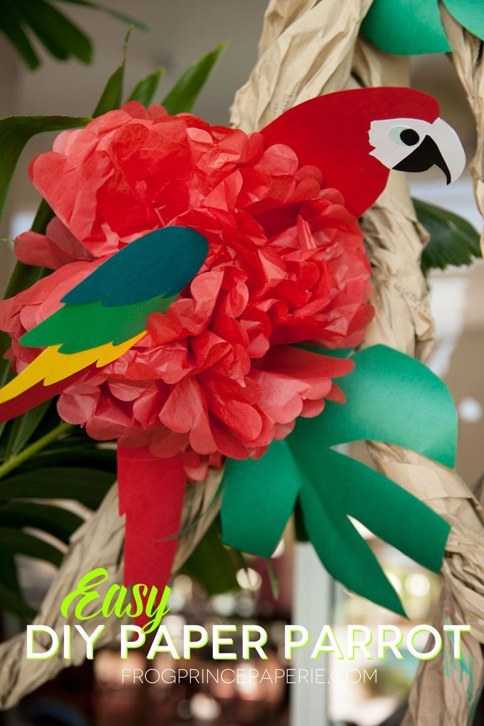 Wie Erstelle Ich Ein Diy Seidenpapier Papagei Fur Luau Parteien