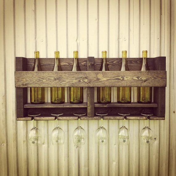 Brilliant Ebony Wine Rack Wine Storage Rustic Hanging