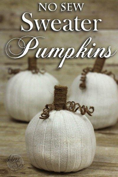 No Sew Sweater Pumpkins