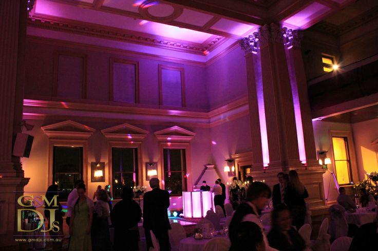 Wedding dance floor lighting at Customs House Brisbane CBD Wedding reception lighting at Customs House Brisbane | G&M DJs | Magnifique Weddings #gmdjs #magnifiqueweddings @gmdjs #customshouserestaurant