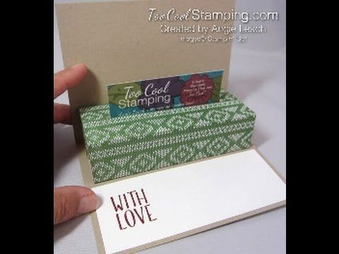 Jolly Friends Moose Gift Card Holder Card—Part 2 - Too Cool Stamping Stampin' Up!  Add a gift card to any traditional-style card!