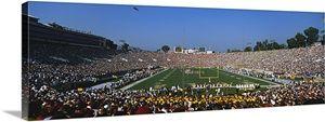 Football stadium full of spectators, The Rose Bowl, Pasadena, City of Los Angeles, California