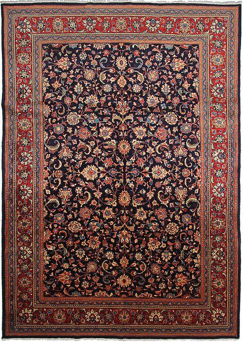 Persian Sarouk Blue Rectangle 9x12 Ft Wool Carpet 110849 Sarouk Area Rug Dekorasyon Fikirleri Halilar Dekorasyon