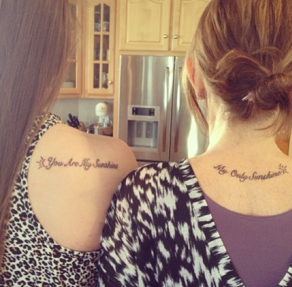 Mother Daughter Tattoos Cute Quotes Quotesgram: Mother Daughter Matching Tattoos! Special Song Between My