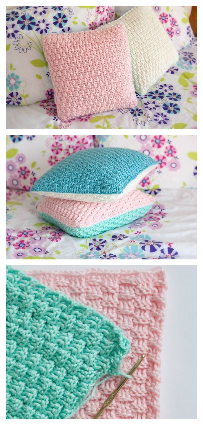 The Free Pillow Cover Crochet Pattern is easy and fun decorative crafts! Follow the free pattern and enjoy your new comfy pillows.