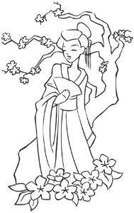 Embroidery Designs at Urban Threads - Geisha Girl