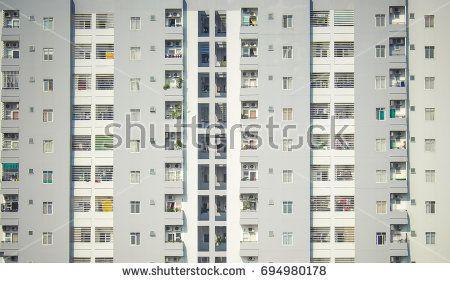 Windows Pattern on High Apartments