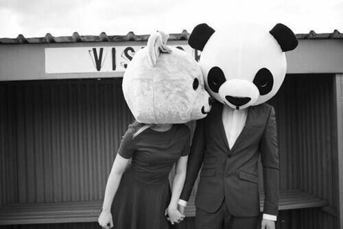 pareja panda