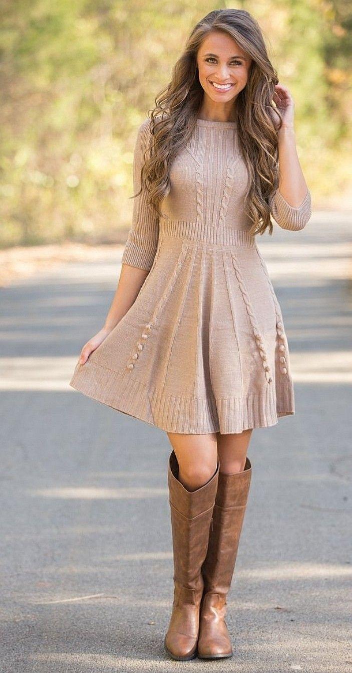 Pin By Dalmira Torres Villanueva On Boot Cozy Sweater Dress Sweater Dress Trendy Sweaters [ 1342 x 703 Pixel ]
