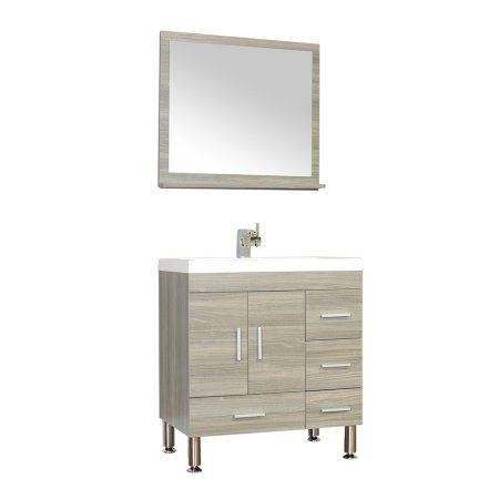 Photo Of Ripley inch Single Modern Bathroom Vanity Set Gray with Mirror