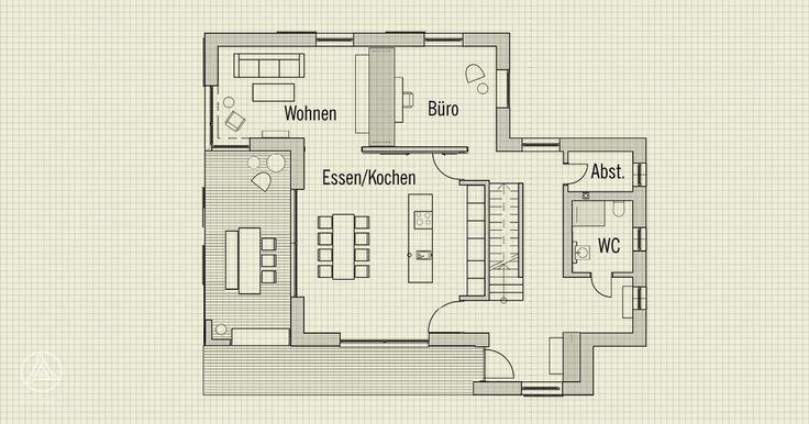 Erdgeschoss - Individuell geplantes Ökohaus Musterhaus NaturDesign