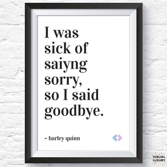 Harley Quinn quote print nasty woman black and by VisualLuxury