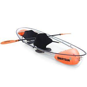 Driftsun Crystal Clear Transparent 2 Person Kayak - Clear Bottom Kayak   eBay