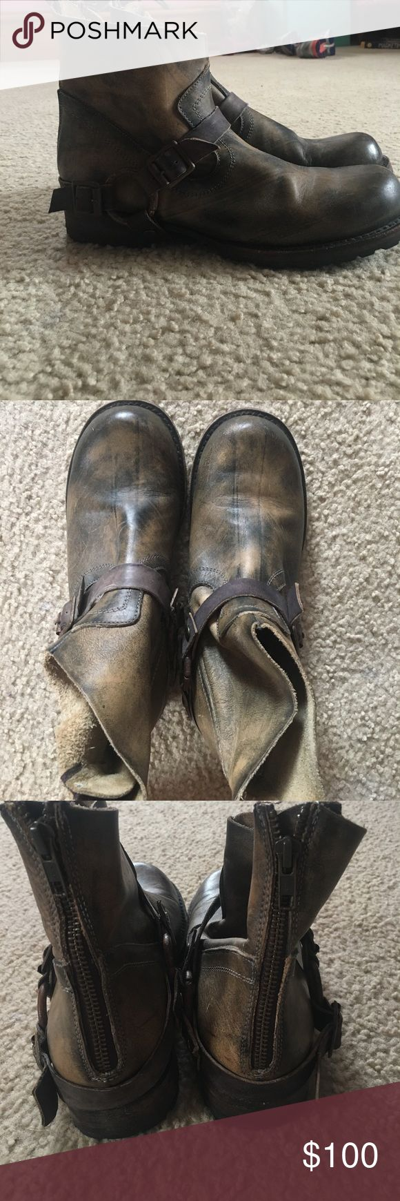 Ankle boots Freebird by Steven hatchet short ankle boots. Worn 2-3 times in great condition Freebird by Steven Shoes Ankle Boots & Booties