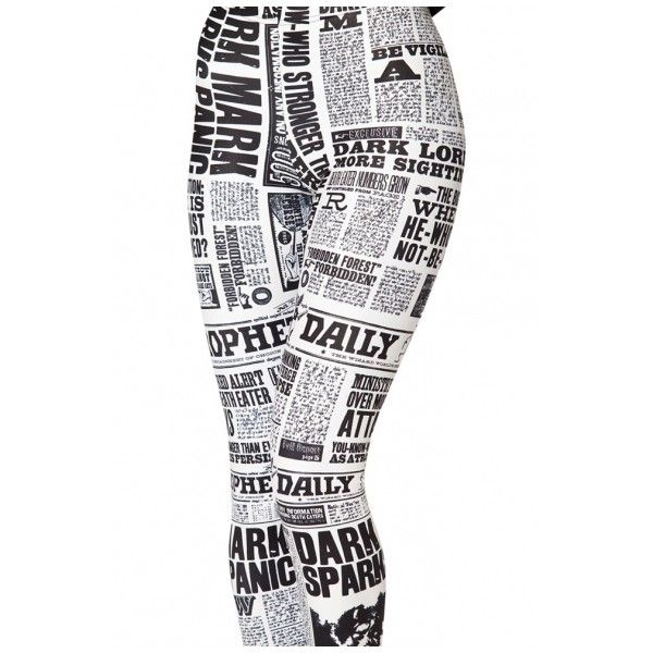 Vivid Newspaper Space Pattern Spandex Elastic Leggings ($9.16) ❤ liked on Polyvore featuring pants, leggings, space print leggings, white leggings, lycra leggings, spandex pants and elastic pants