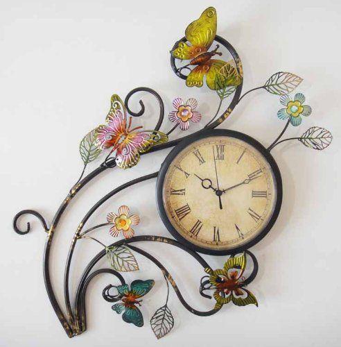 Metal Wall Art - Wall Clock - Butterfly Flower Scene Payl... https://www.amazon.co.uk/dp/B0084M83XC/ref=cm_sw_r_pi_dp_x_I3x7xbBN14TTM