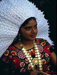 Pretty Tehuana woman from Tehuantepec, Mexico.