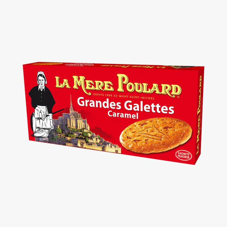 la mere poulard galettes caramel-sin in a red box