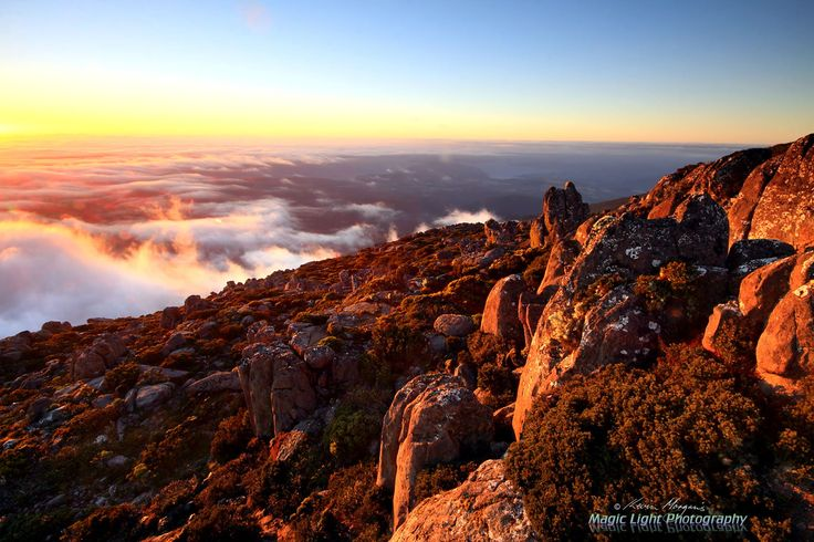 Mt Wellington Sunrise March 2014 #2 by Kevin Morgan on 500px