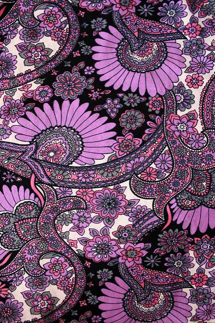 Purple Black Paisley | From a skirt of mine. | Annie Butterfly | Flickr