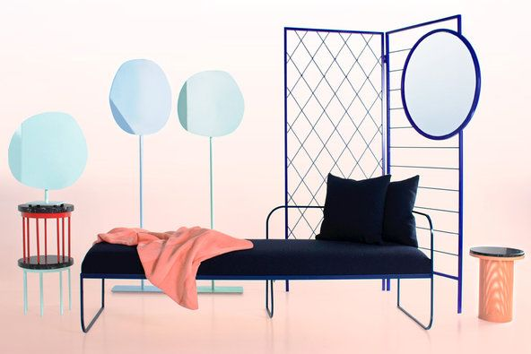 Vera & Kyte showed a collection at the Milan Furniture Fair that was full of thin lines and rigorous geometry.