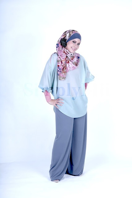 SimplyMii - Sofie Baby Button Top - Sweet Mint IDR 175.OOO (Size S-M and M-L) |   Sofie Basic Palazzo - GreyBerry IDR 195.OOO (Size S-M and M-L)