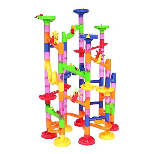 Marble Runs - Peradix Marble Run Coaster Set  105 Piece  Learning Railway Construction DIY Constructing Maze Toy for All Family >>> Continue to the product at the image link.