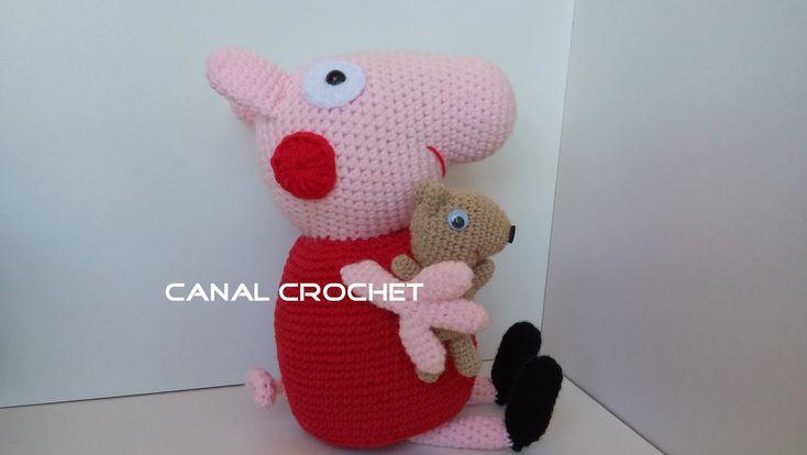 Osito Amigurumi Tutorial Canal Crochet : CANAL CROCHET: Peppa pig y su osito teddy amigurumi patron ...