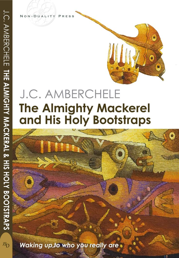 "Cover of the ""The Almighty mackerel and his holy Bootstraps"" Book by J.C. AMBERCHELE"
