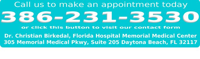 The address of Florida Hospital is 305 Memorial Medical Parkway, Suite 205 in Daytona Beach. Call today for an appointment.