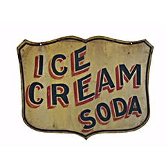 vintage sign. Could do the shadow effect with Silhouette stencil cutout, just carefully paint two colors on stencil... hmmmmmmmmm