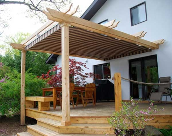 24 best images about pergolas by on pinterest outdoor living custom shades and - Shade canopy for deck ...