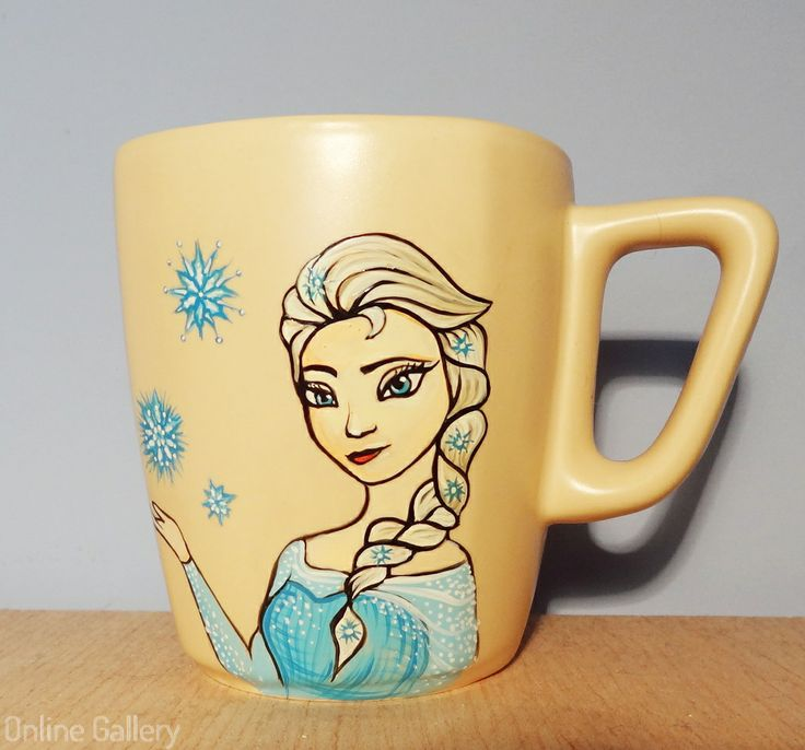 Cana pictata Elsa Frozen #handmade #painted #mug #art #Elsa #Frozen @Elsa Fritts