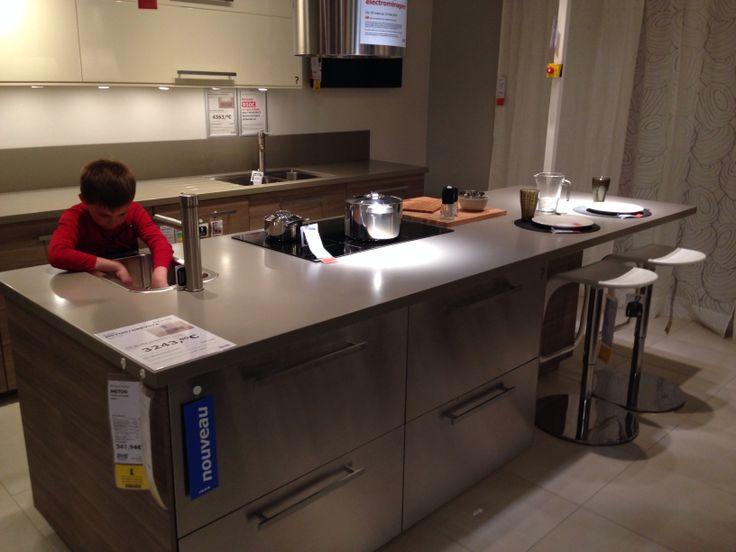 Les 176 meilleures images propos de cuisine sur for Ilot central avec rangement et table retractable montreuil