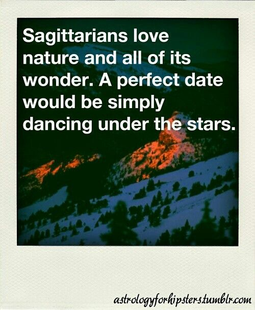 Danny the Sagittarius..loves the outdoors yes. Dances when drunk. I guess this was meant as a metaphor.lol