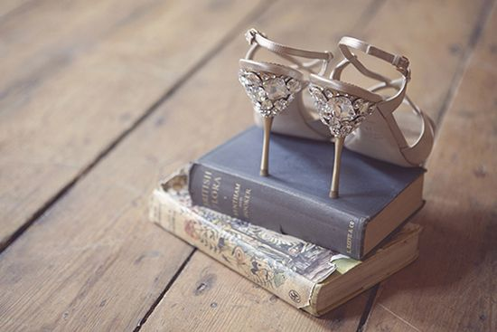 wedding shoes {cute photo idea}... Maybe put the shoes on your favorite books, or even The Bible