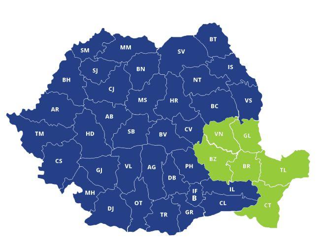 Productivitatea muncii - top producatori regiunea Sud-Est