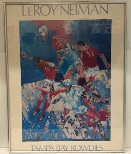 LeRoy Neiman American Soccer Club Team Framed Art Print/Poster Tampa Bay Rowdies